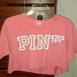 PINK Victoria's Secret Tops - Pink crop top
